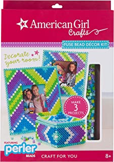 American Girl Crafts Perler Bead Photo Frame and Jewelry Box Craft Kit, 2819pc.