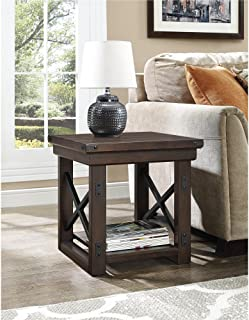 Ameriwood Home Wildwood Wood Veneer End Table, Espresso