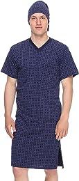 Chemise de Nuit Pyjama Vêtement d'Intérieur Homme