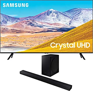 "Samsung UN75TU8000 75"" 8 Series Ultra High Definition Crystal 4K Smart TV with a Samsung HW-T650 Bluetooth Soundbar with Dolby Audio Wireless Subwoofer (2020)"