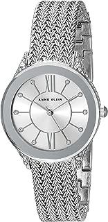 Women's AK/2209SVSV Swarovski Crystal Accented Silver-Tone Mesh Bracelet Watch