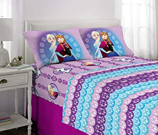 Disney Frozen Kids Bedding Soft Microfiber Sheet Set, Full Size 4 Piece Pack