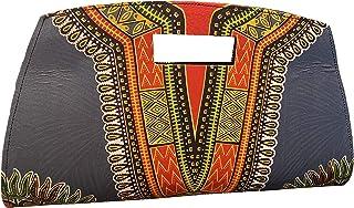 JBG Services Blue African Print Dashiki Clutch, African Purse Ankara Dashiki Clutch, African Bag, African Accessories Mult...