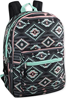 8f9e43a8b2 Trailmaker Girls  All Over Printed Backpack 17 Inch With Padded Straps  (Black Aztec)