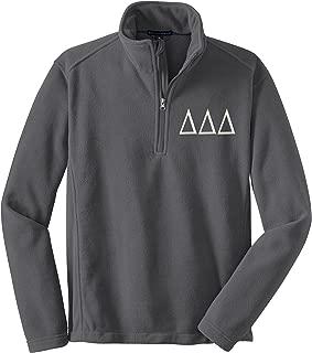Sorority Letters Shop Delta Delta Delta Quarter Zip Fleece Pullover