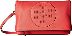 Tory Burch - Perforated Logo Fold-Over Crossbody