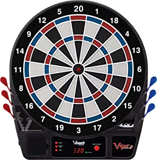 Viper Vtooth 1000 Electronic Dartboard, App Integrated Scoring, 4 Player Multiplayer on a Single Device, Durable Nylon-Tough Segments, Included Darts And Tips, Red White And Blue Segments, 16+ Games