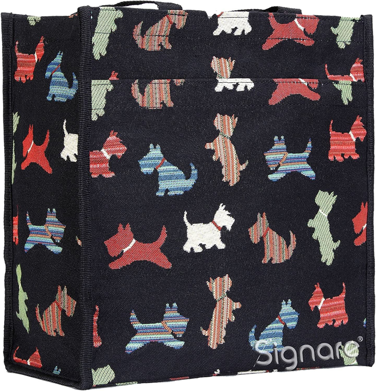 Signare Womens Fashion Tapestry Shopper Bag Shoulder Bag (Scottie)