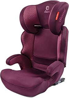 Everett NXT Ridged Latch Booster Seat with Slim Fit Design and Light Weight Belt Positioning, Plum