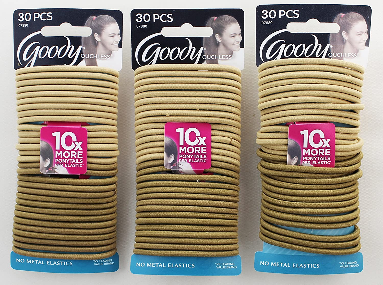 Goody Blonde OFFicial San Francisco Mall site Elastics 30 3 Pack of Count