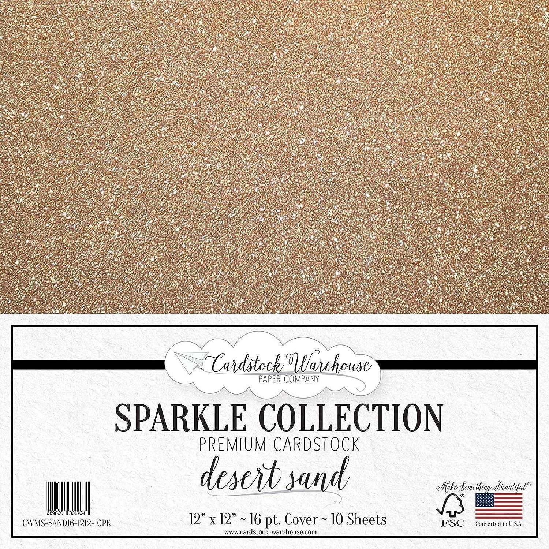 MirriSparkle Desert Sand Glitter Cardstock Paper from Cardstock Warehouse 12