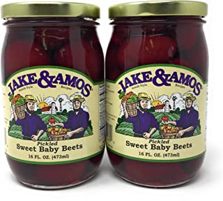 Jake & Amos - Pickled Sweet Tiny Baby Beets / 2 - 16 Oz. Jars