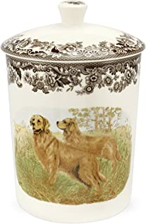 Spode Woodland Hunting Dogs Medium Canister with Golden Retriever