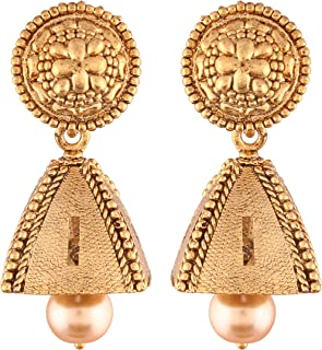 Classy Indian Traditional Jhumki Bollywood Wedding Party Wear Dangle Earrings Jewelry for Women