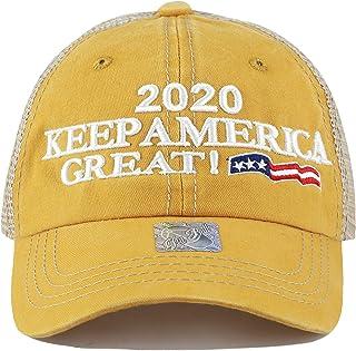 deb9e23fab96e THE HAT DEPOT Trump 2020 President Keep America Great Flag Cotton 3D Cap