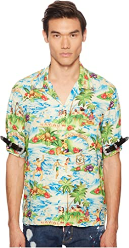 Printed Hawaiian Viscose Shirt
