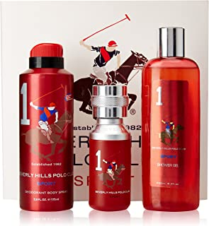 Beverly Hills Polo Club Gift Set 1 for Men (Eau De Toilette, shower gel and Deodorant)