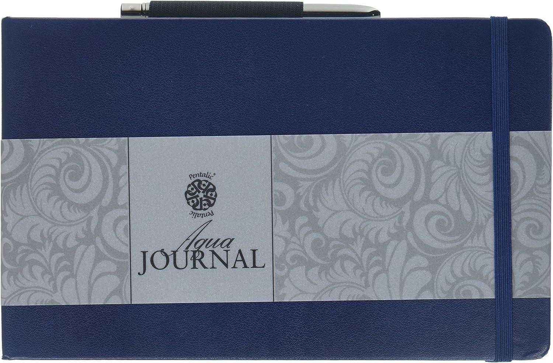 Connoisseur Aqua Journal  Aquarellbuch mit Pinsel  12,5 cm x 20,5 cm
