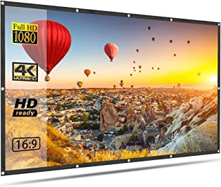 Projector Screen OWLENZ 100 inch Portable Foldable Anti Crease 16:9 4K HD Projection Video Film Screen for Home Theater In...