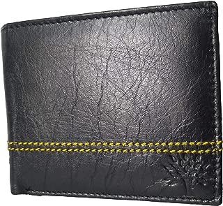 Gen Woodland Men's RFID Protected Leather Wallet (Black)