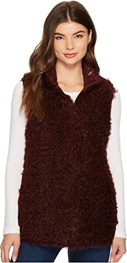 Reversible Curly Faux-Fur Vest