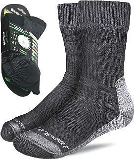 Coolmax Merino Wool Socks for Men & Women - Hiking - Trekking - Trail Walking - Seamless Toe - Cushioned - Breathable & Soft