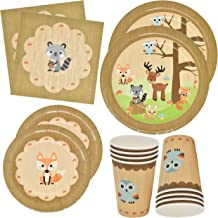 Gift Boutique Woodland Animal Creatures Tableware Set 24 9