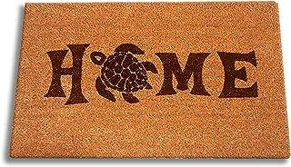 "Sea Turtle Home Laser Engraved Coir Fiber Welcome Doormat 30"" x 18"""