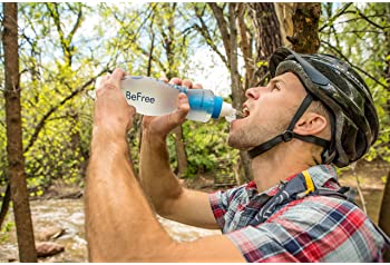 Katadyn BeFree 1.0L Water Filter, Fast Flow, 0.1 Micron EZ Clean Membrane for Endurance Sports, Camping and Backpacki...