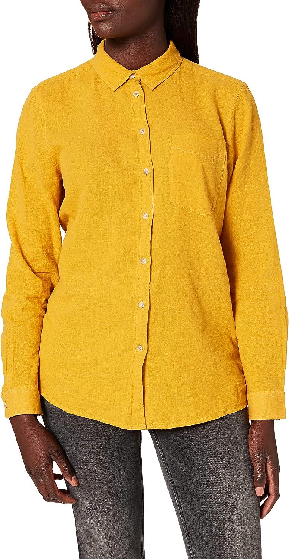 Springfield Blusa Lino Algodón Orgánico Camisa para Mujer