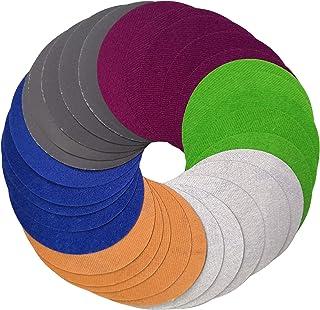 Aewio 30 Pcs 5 inch #1000-#10000 Wet Dry Sandpaper Sanding Discs 1000 2000 3000 5000 7000 10000 Each Grit 5 Pcs for Random...