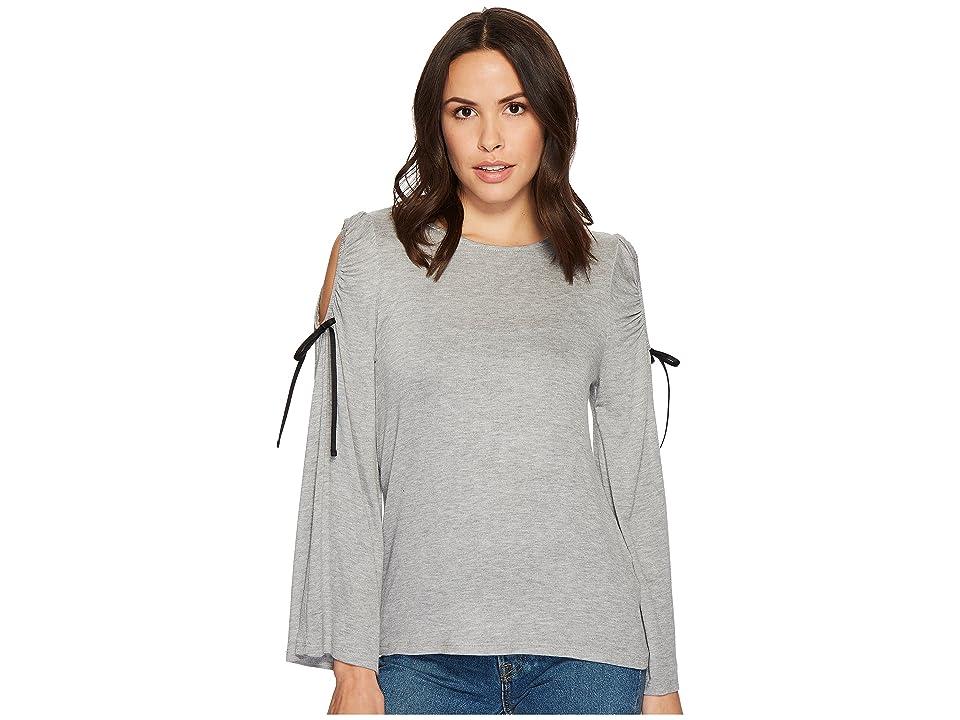 B Collection by Bobeau Yara Cold Shoulder T-Shirt (Heather Grey) Women