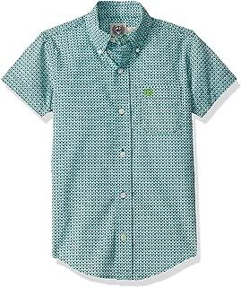 Big Boys Short Sleeve Button One Open Pocket Print Shirt