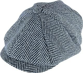 Sock Snob Mens Herringbone Pattern Thinsulate Lined 8 Panel Winter Wool Newsboy Hat Cap