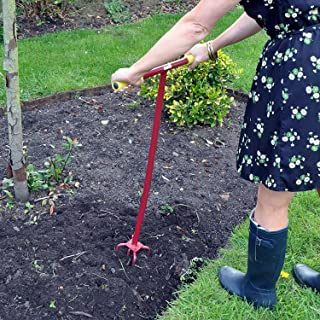 Long Handled 4 Pronged Garden Cultivator Weeder With Comfy Grip Handles ORIGINAL ONE PIECE WELDED UNIT!!!!!