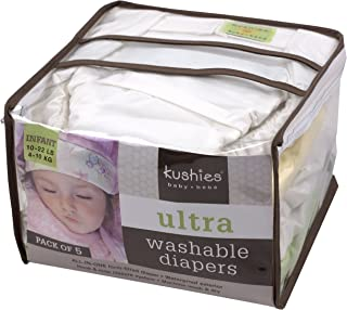 Kushies 5 Pack Reusable Ultra Diapers for Toddlers