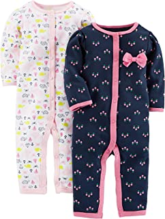 Cerniera A 2 Vie Simple Joys by Carters per Dormire E Giocare Infant-And-Toddler-Bodysuit-Footies Bambina in Cotone