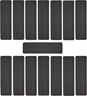 RugStylesOnline Premium Stair Treads Pet Nail Friendly Cut Loop Set of 15 Indoor Skid Slip Resistant PVC Backing Carpet Stair Tread Treads (9 inch x 32 inch) (Grey Black, Set of 15)
