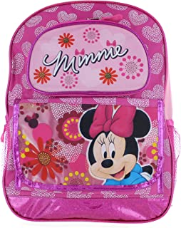 "Fast Forward Disney Minnie Mouse 16"" Backpack - Floral Pink Minnie"