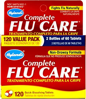 Cold and Flu Like Symptoms Medicine, Hyland's Complete Flu Care, Homeopathic Remedy, 120 tablets