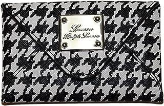 0ebb3ab6 Ralph Lauren Polo Tarjetero, diseño de pata de gallo, color blanco y negro