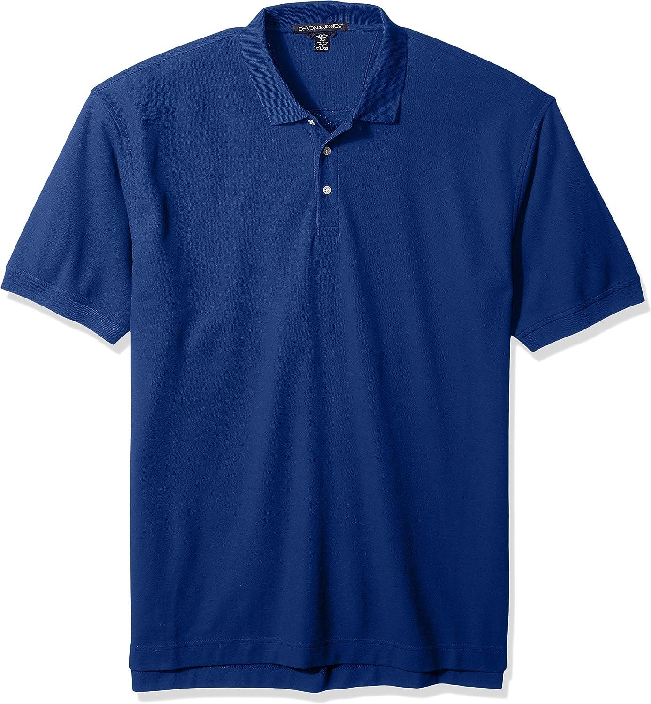 D and Jones Men's Dejn-d100t-tall Pima Piqué Short-Sleeve Polo
