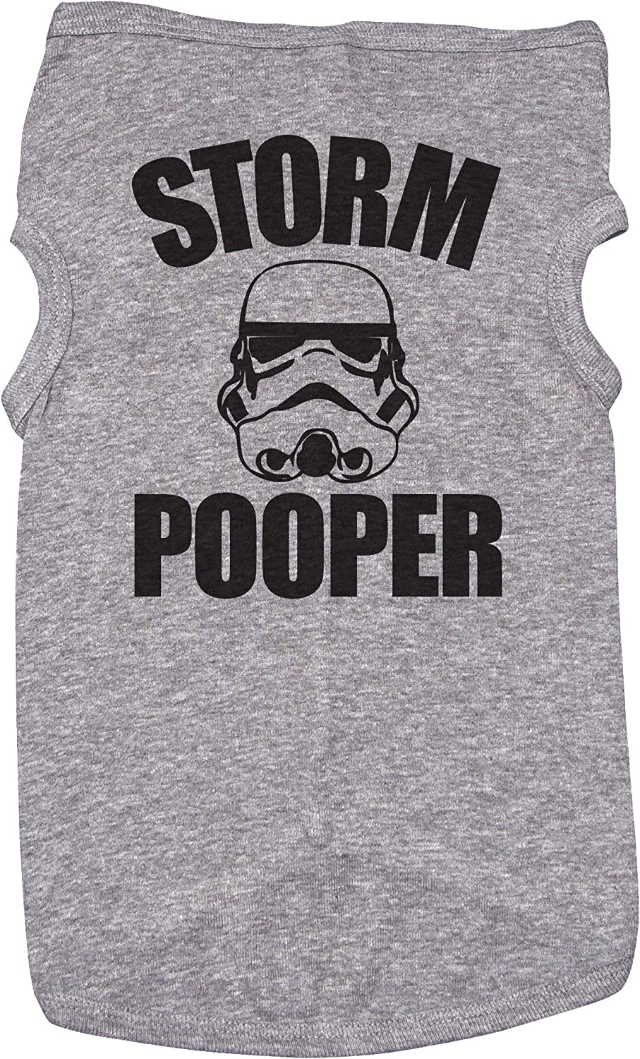 Baffle Star Wars Shirt for Dogs Storm Pooper Grey Puppy Tee (XL)