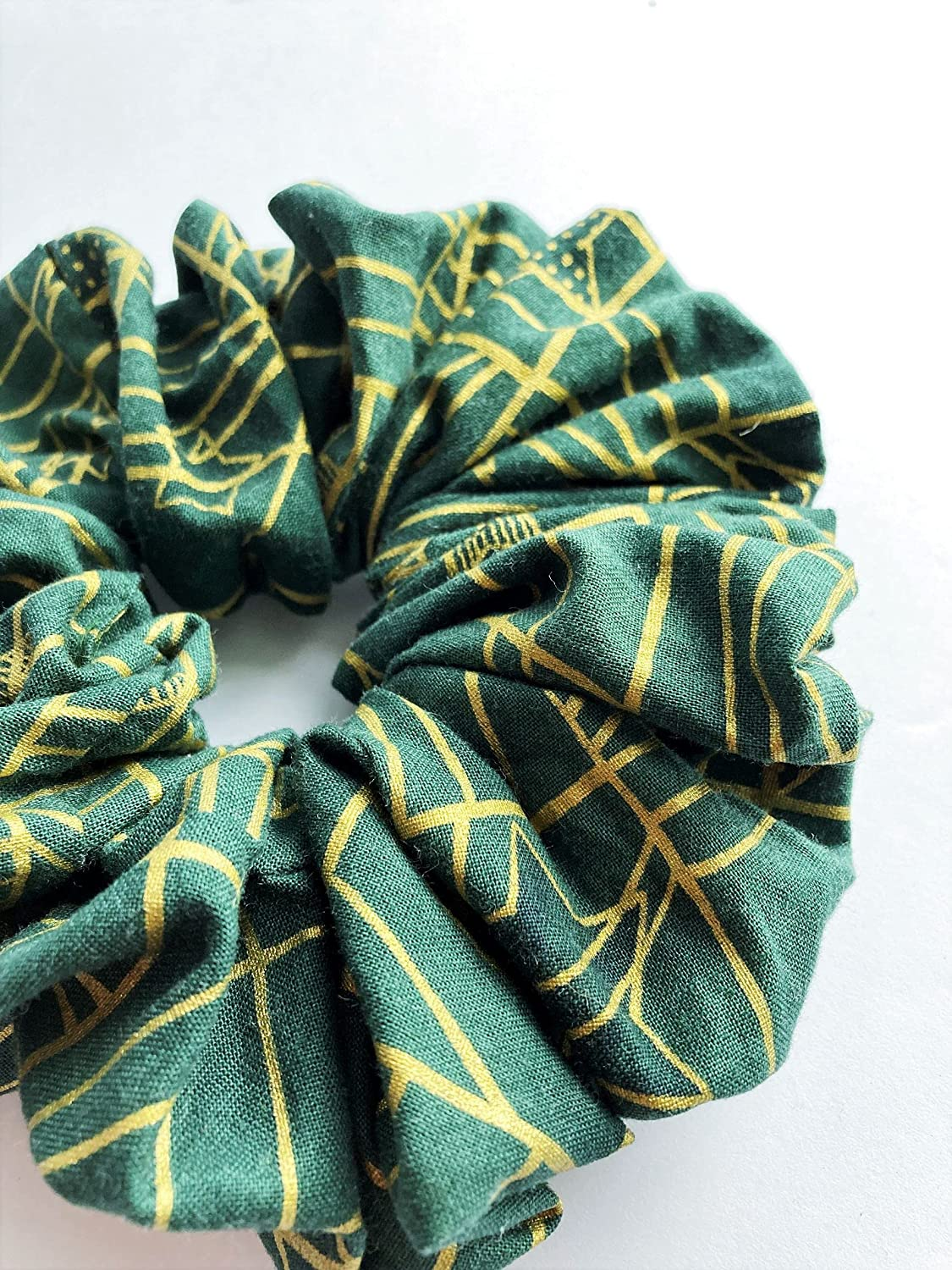 Orion Outlet SALE - 7 inch Jumbo Scrunchie Discount is also underway Gr Print Fabric Forest Cotton