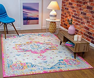 Antep Rugs Elite Collection Bohemian Distressed (DSG66) Indoor Area Rug (Lilac, 8' Square)