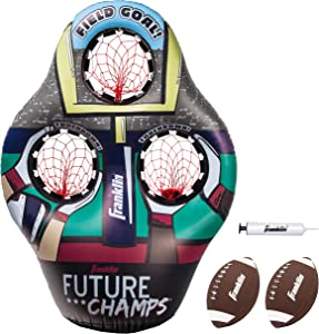 Franklin Sports 60189 Kids Football Target Toss Game - Inflatable Football Throwing Target with Footballs - Kids Football Toss Game - 45