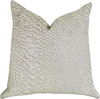 Plutus Brands Mystical Iceberg - Almohada de Doble Cara, 61 x 61 cm, Color Blanco y Plateado