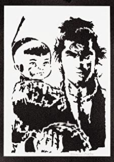 Poster Lone Wolf and Cub Handmade Graffiti Street Art - Artwork