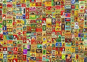 Colorcraft 1000 Piece Jigsaw Puzzle, Vintage Matchboxes