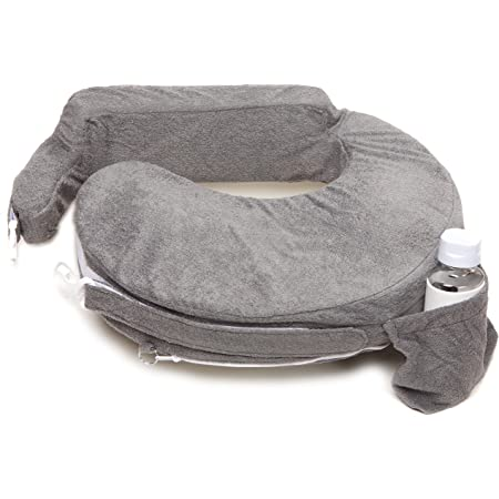 My Brest Friend Deluxe Nursing Pillow, Evening Grey